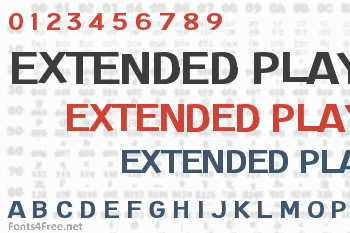 Extended Play Font