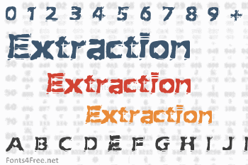Extraction Font