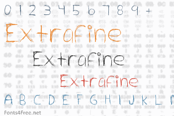 Extrafine Font