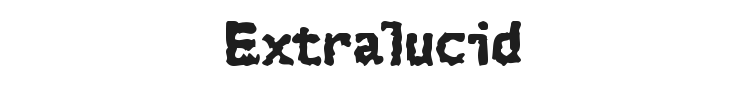 Extralucid Font Preview