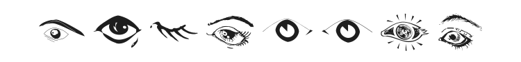 Eyes Font Preview