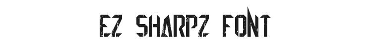 EZ Sharpz Font Preview