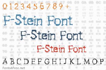 F-Stein Font