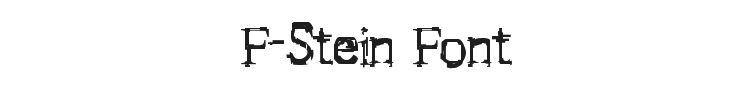 F-Stein Font Preview