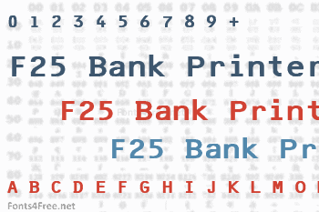 F25 Bank Printer Font