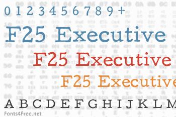 F25 Executive Font