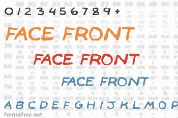 Face Front Font