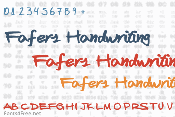 Fafers Handwriting Font
