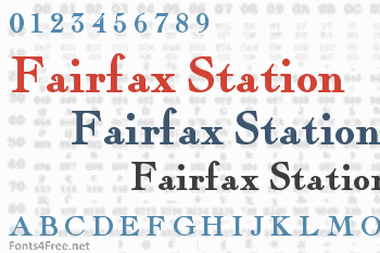 Fairfax Station Font