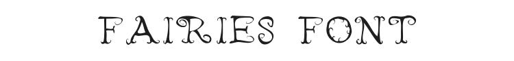 Fairies Wear Boots Font