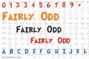 Fairly Odd Font