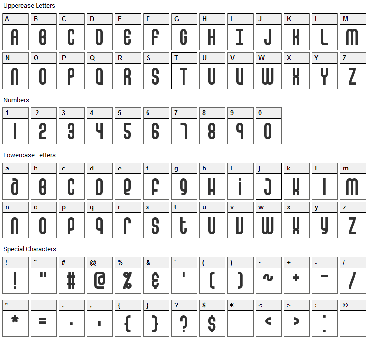 False Positive Font Character Map