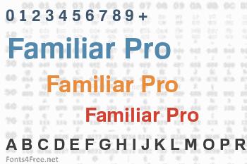 Familiar Pro Font