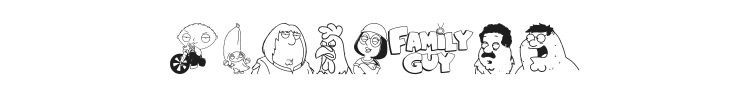 Family Guy Giggity Font Preview