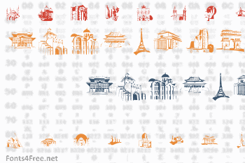 Famous Buildings Font