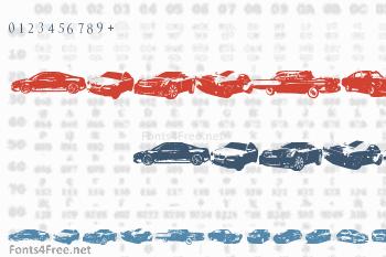 Famous Cars Font