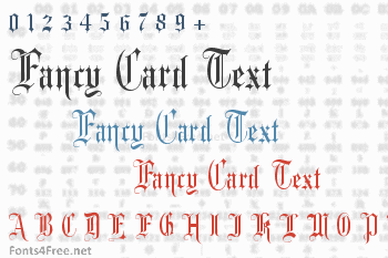 Fancy Card Text Font