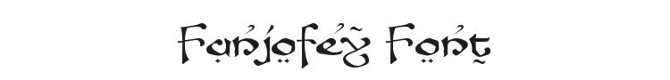 Fanjofey Font Preview