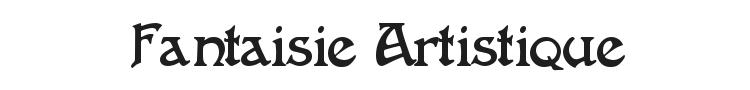 Fantaisie Artistique Font Preview