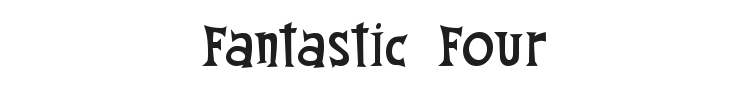Fantastic Four Font Preview