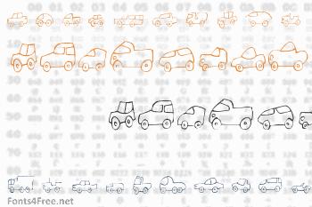Fantastique Cars Font