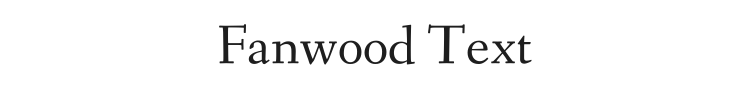 Fanwood Text Font Preview
