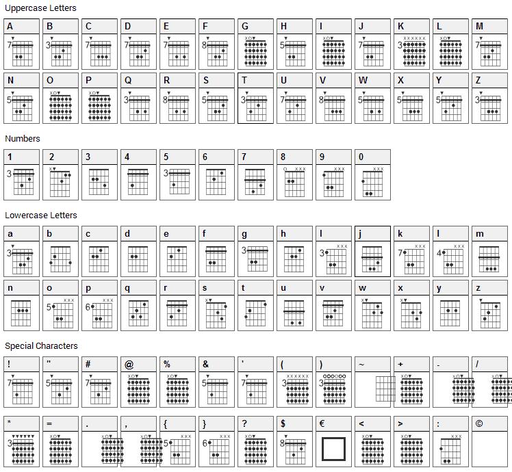 FarHat Font Character Map