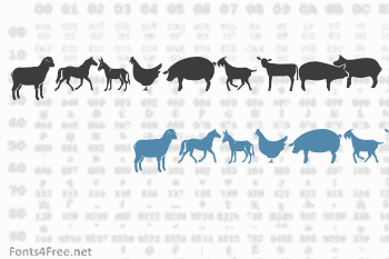 Farm & Wild Animals Font