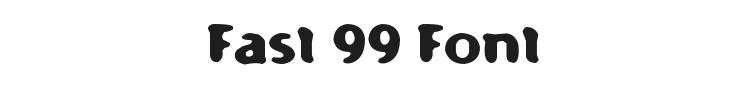 Fast 99 Font