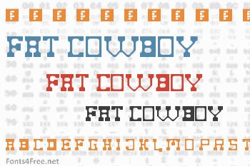Fat Cowboy Font