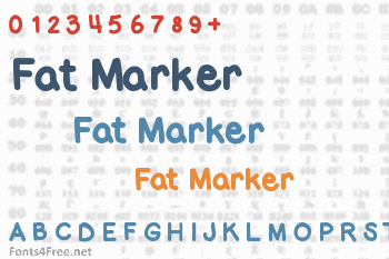 Fat Marker Font