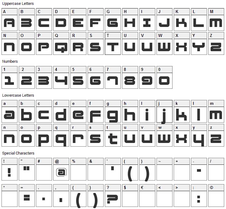 Fatsans Font Character Map