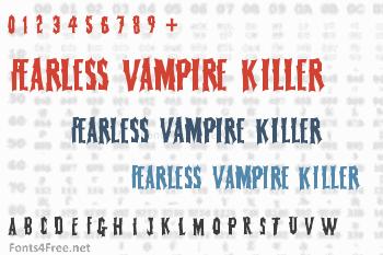 Fearless Vampire Killer Font