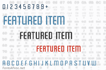 Featured Item Font