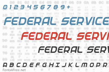 Federal Service Font