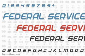 Federal Service Font