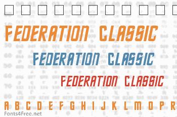 Federation Classic Font