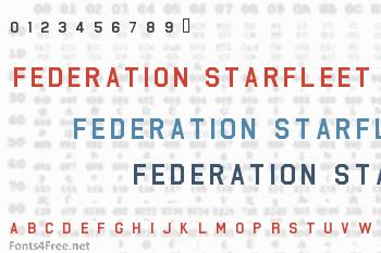 Federation Starfleet Hull 23rd Font