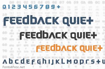 Feedback Quiet Font