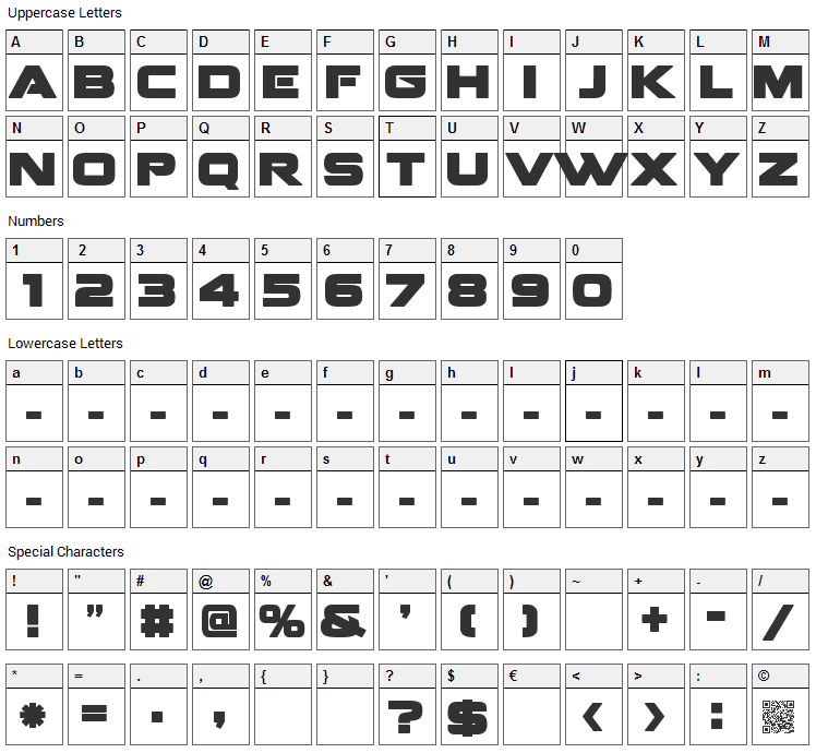 Fenix Blackletter Caps Font Character Map