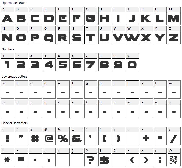 Fenix Blackletter Caps Font Character Map