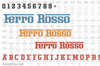 Ferro Rosso Font