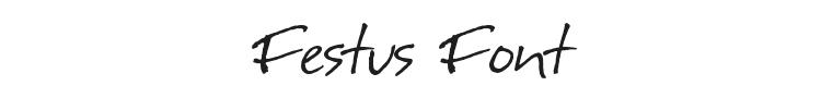Festus Font Preview