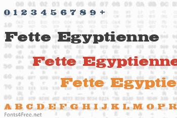 Fette Egyptienne Font