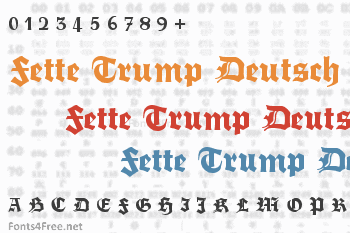 Fette Trump Deutsch Font
