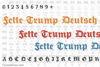 Fette Trump Deutsch Font