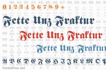 Fette Unz Fraktur Font
