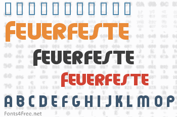 Feuerfeste Font
