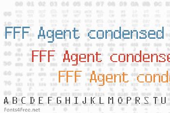 FFF Agent condensed Font