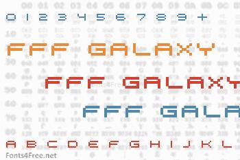 FFF Galaxy Font